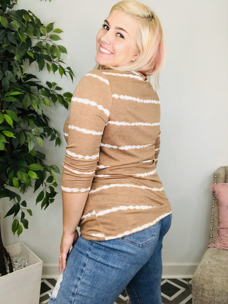 Wishing To See You Striped Top
