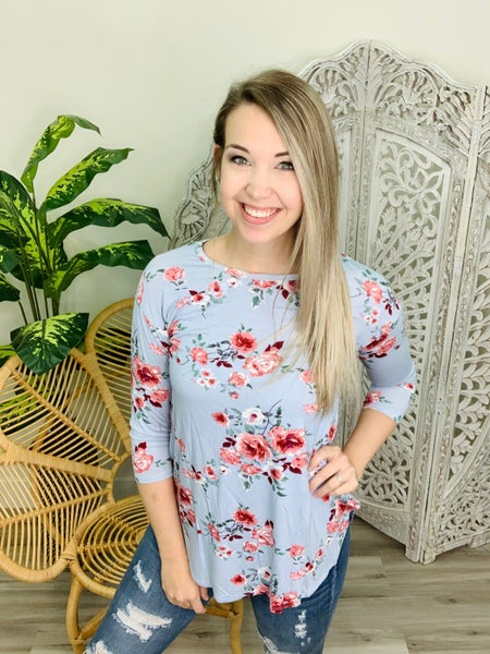 Exotic Escape Floral Top