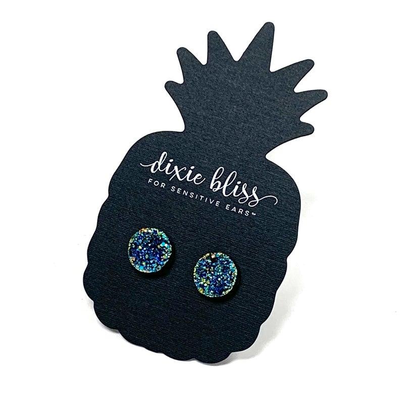 Dixie Bliss Ocean Druzy Earrings