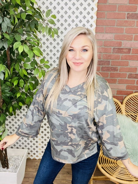 Moving On Camo Top