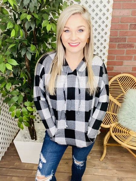 Plaid Dolman Light Hoodie