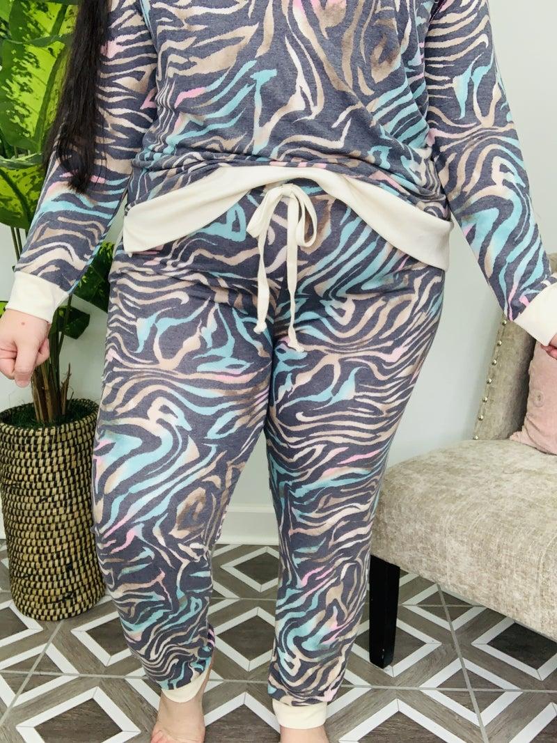 Running Wild Zebra Lounge Pants