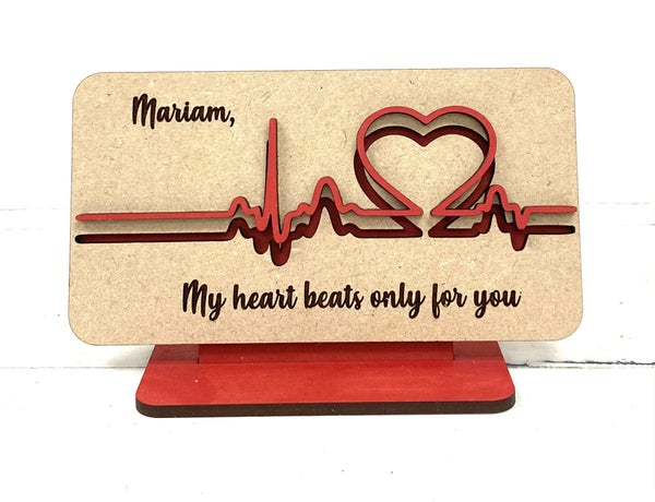 My Heart Beats Valentine Sign