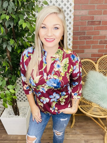 Always Worthwhile Floral Top