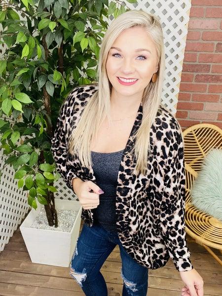 Don't Lose Sight Leopard Cardigan