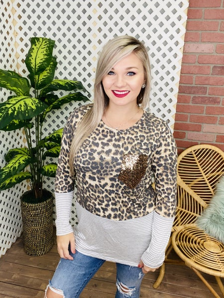She's On The Move Leopard Top