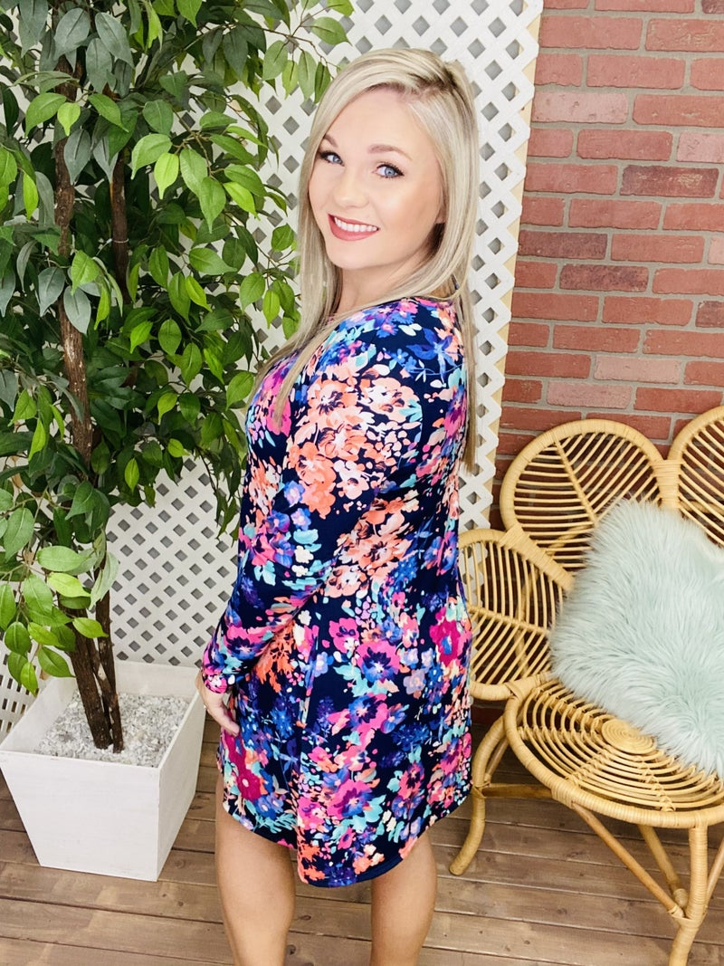 Give Me A Little Time Floral Dress
