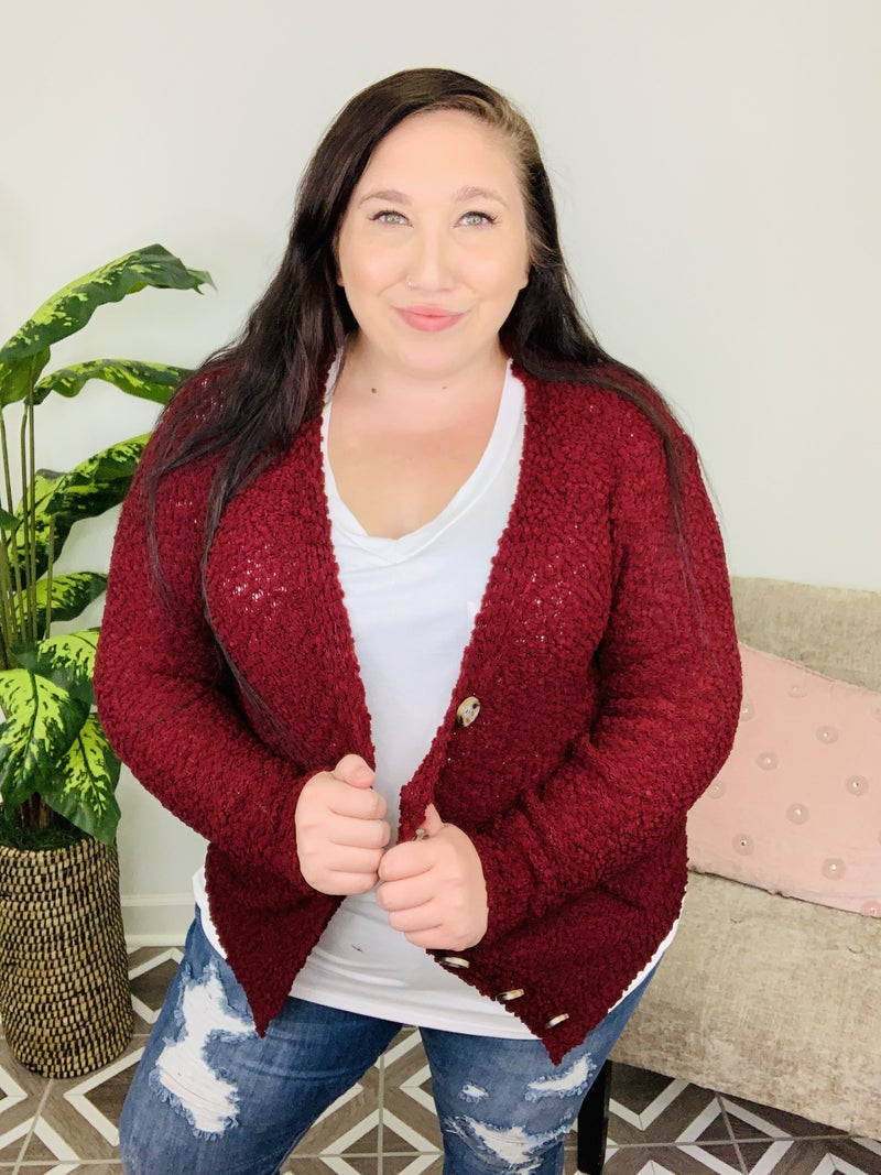 For A Lifetime Popcorn Cardigan