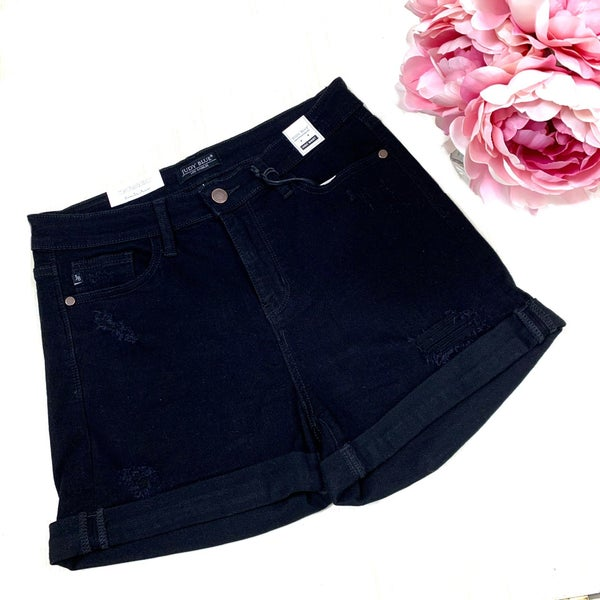 Judy Blue Black High Waist Shorts