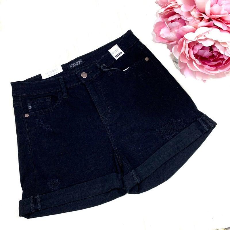 Judy Blue Black High Waist Shorts