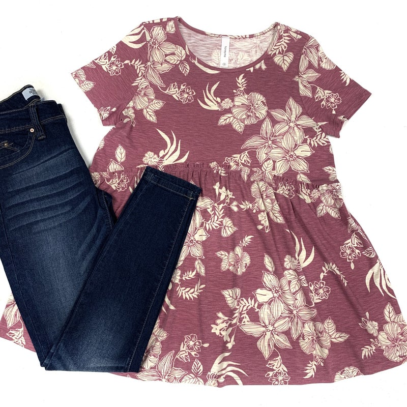 Hint of Paradise Floral Top