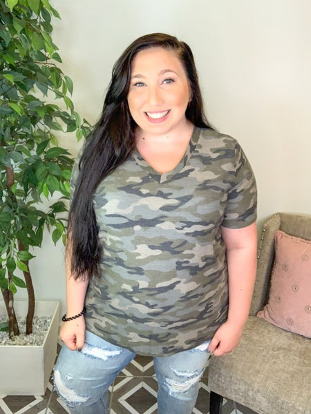 Always Taking Charge Camo Top (2 Colors)