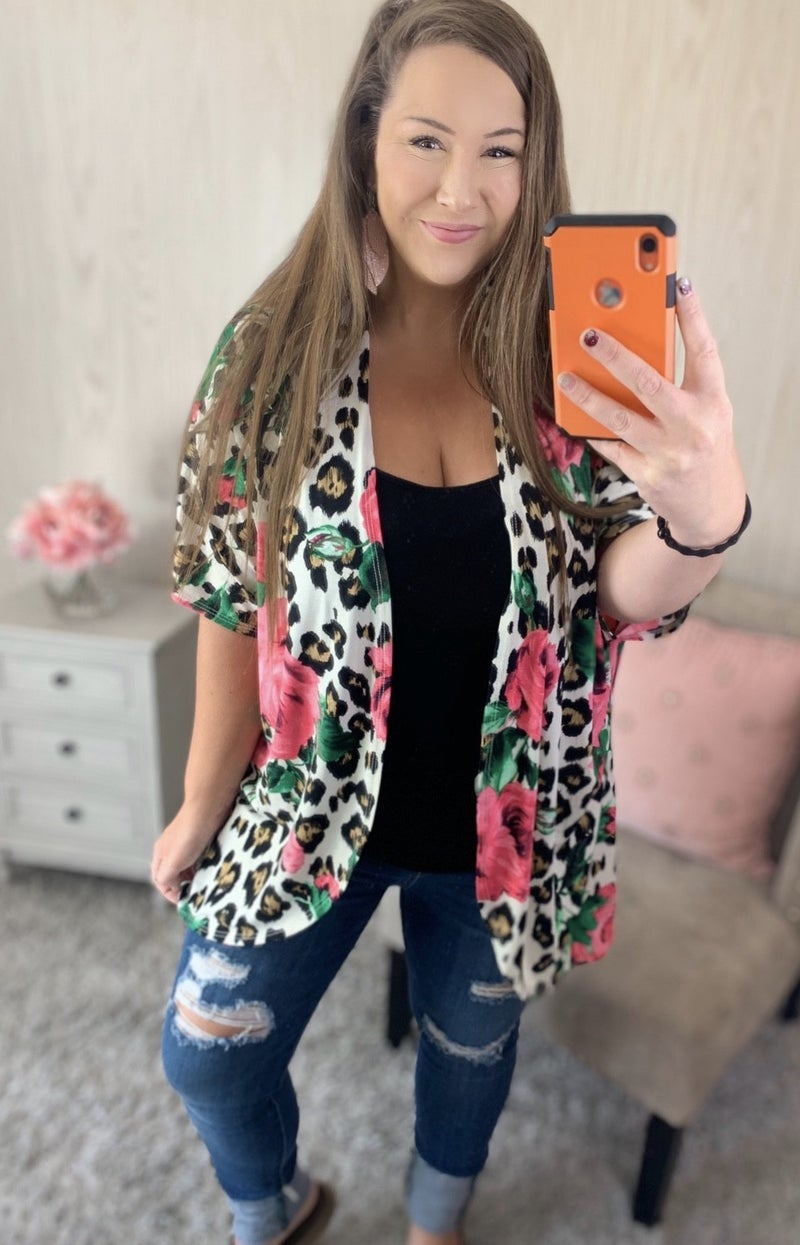 Bounded By Beauty Leopard Cardigan
