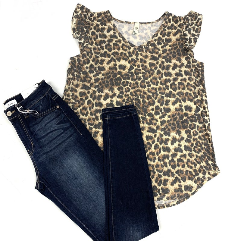 Take My Place Leopard Top