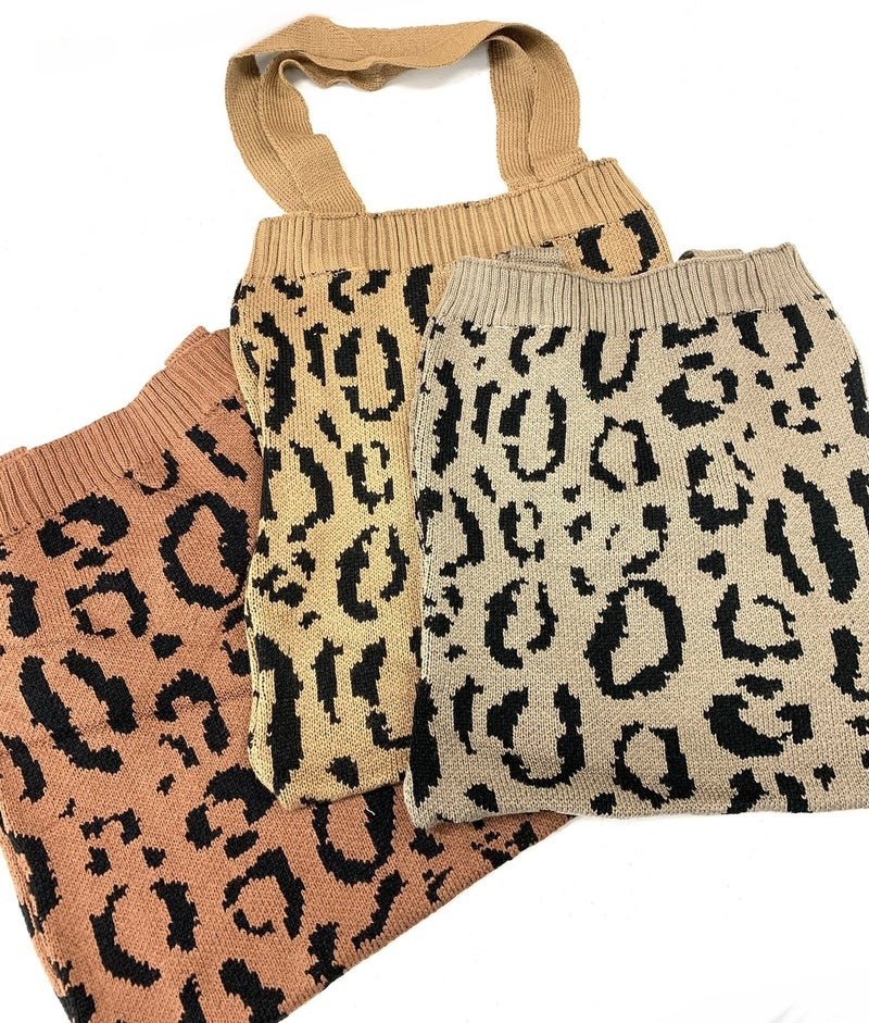 Leopard Sweater Bag
