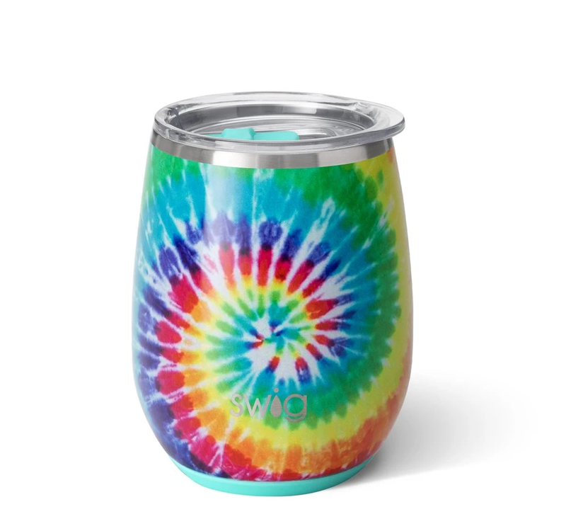 Swig Swirled Peace Stemless Wine Cup