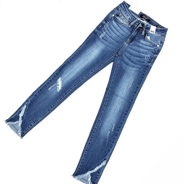 Judy Blue Tulip Hem Skinny Jeans
