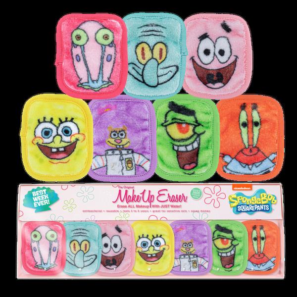 Spongebob 7-Day Set Makeup Erasers