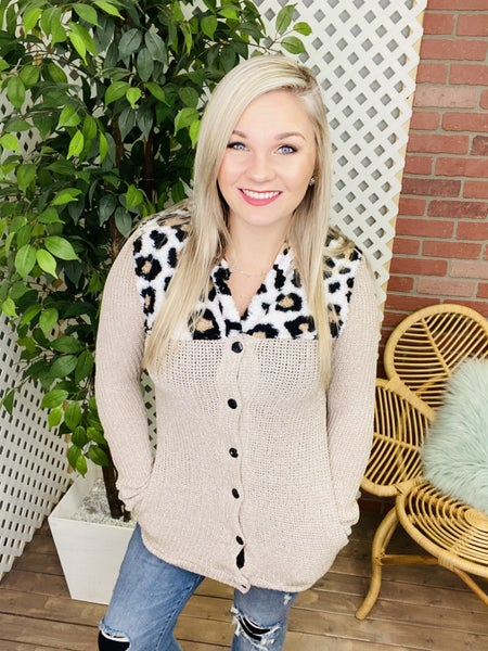 Nothing To Fear Leopard Sweater Jacket