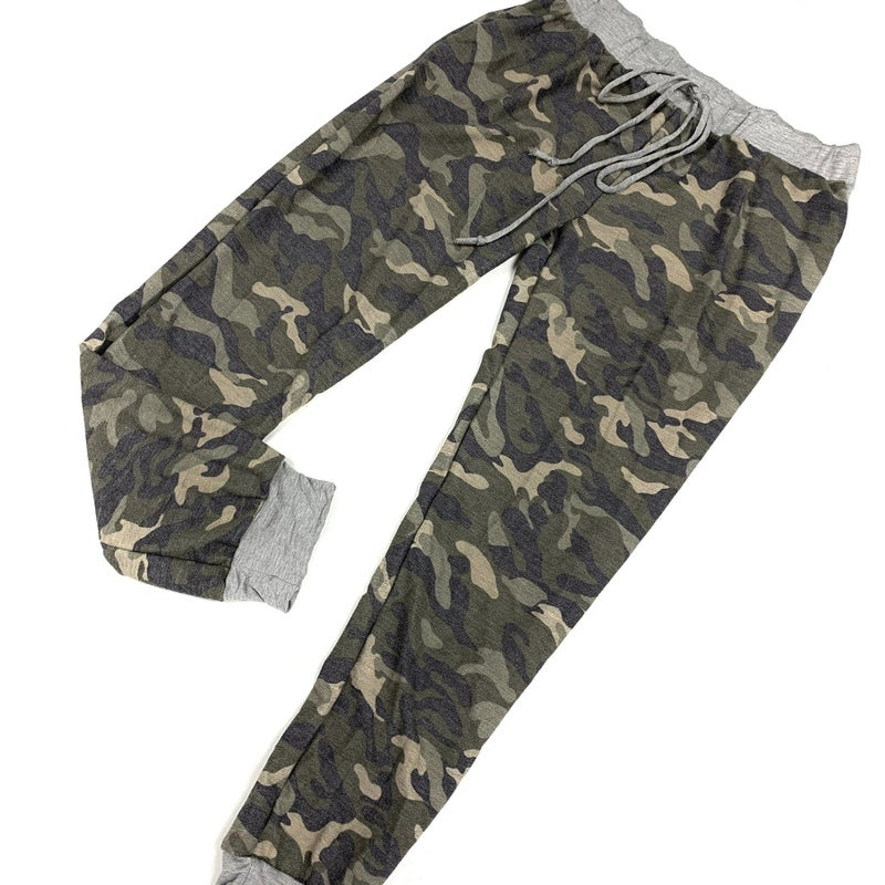Don't Look Back Camo Joggers