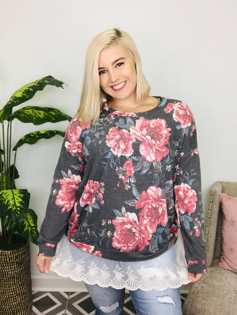 For The Rest Of Time Floral Top