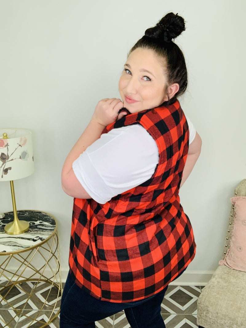 Checkered For Fall Plaid Vest