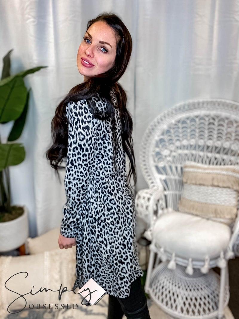 Sew In Love - Long Sleeve Leopard Cardigan Top