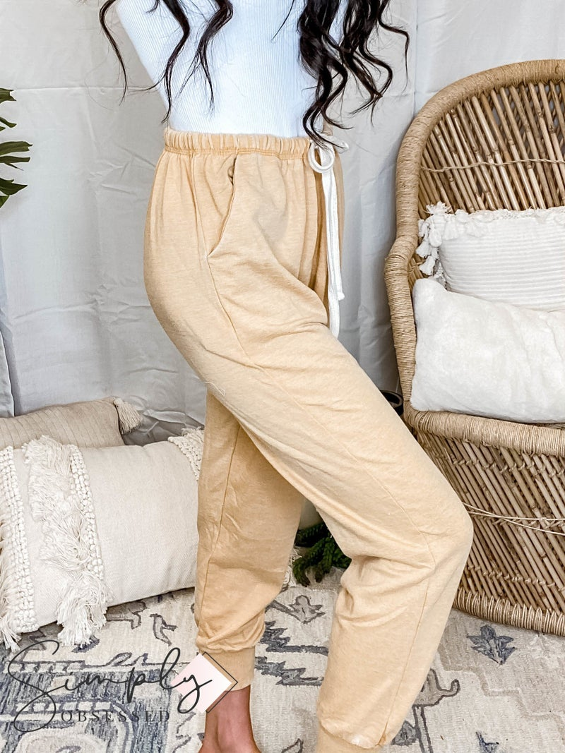 Sew In Love - Solid Knit Drawstring Sweats  (Bottoms Only)