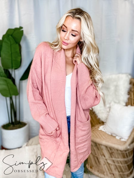 Listicle - Two Tone Soft Touch Open Cardigan