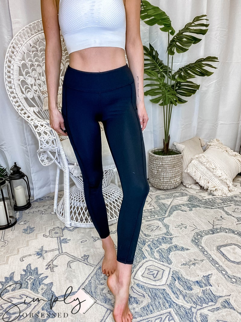 Rae Mode - Compression Full Length Active Leggings W/ Side Pockets