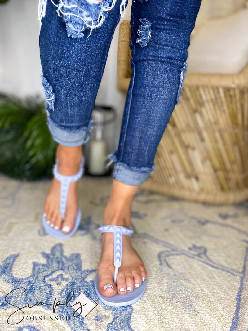 Weehoo - Studded Strap Jelly Sandals
