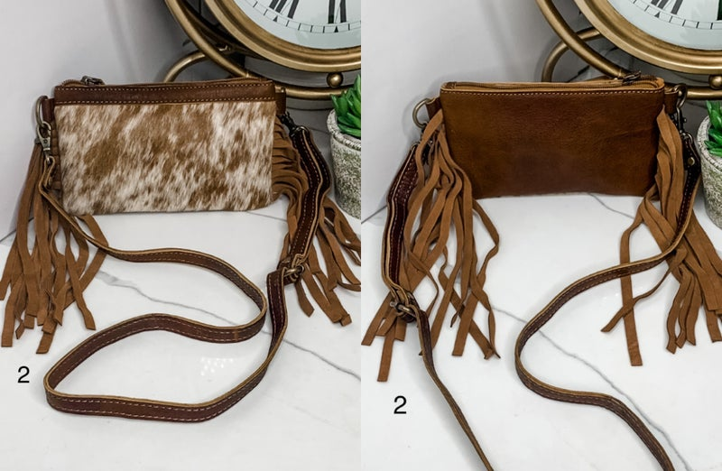 AMERICAN DARLING-SMALL CROSS BODY BAG WITH FRINGE