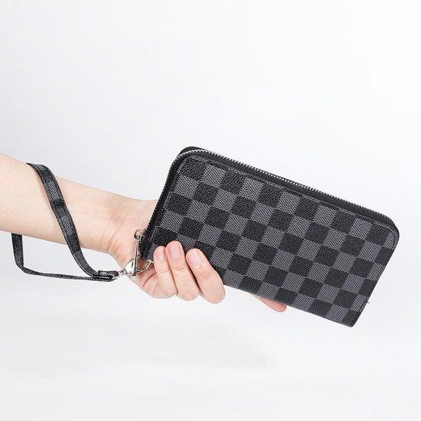 Dani & Em - Checker zip around wallet