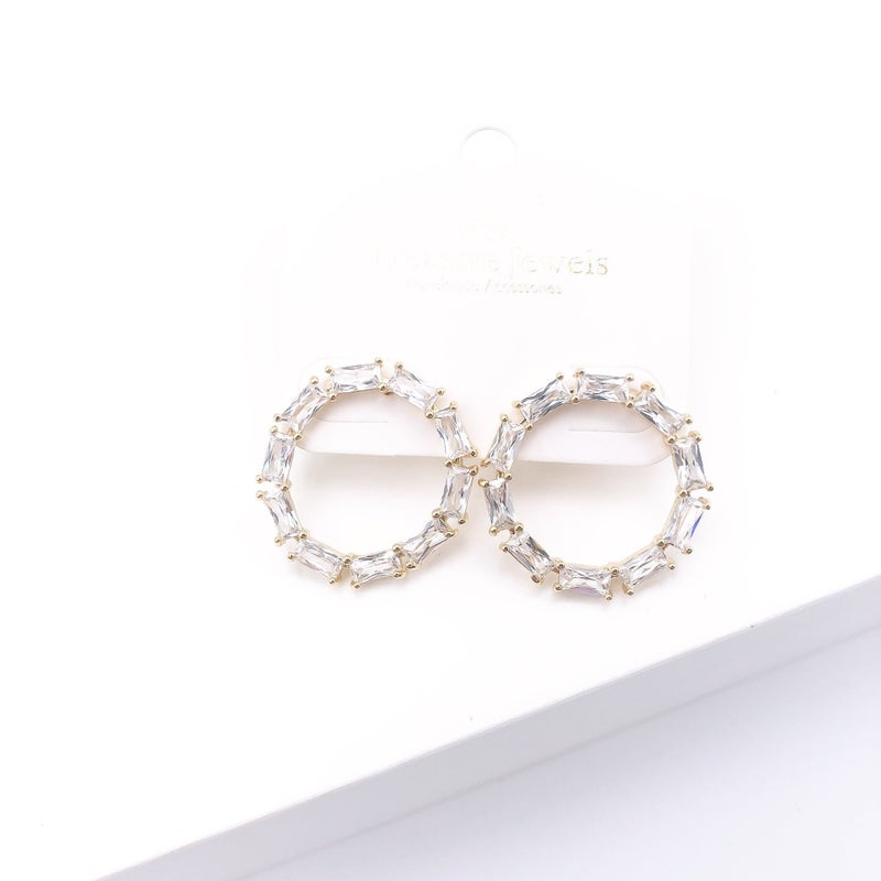 Treasure Jewels - Crystal Circle Hoops