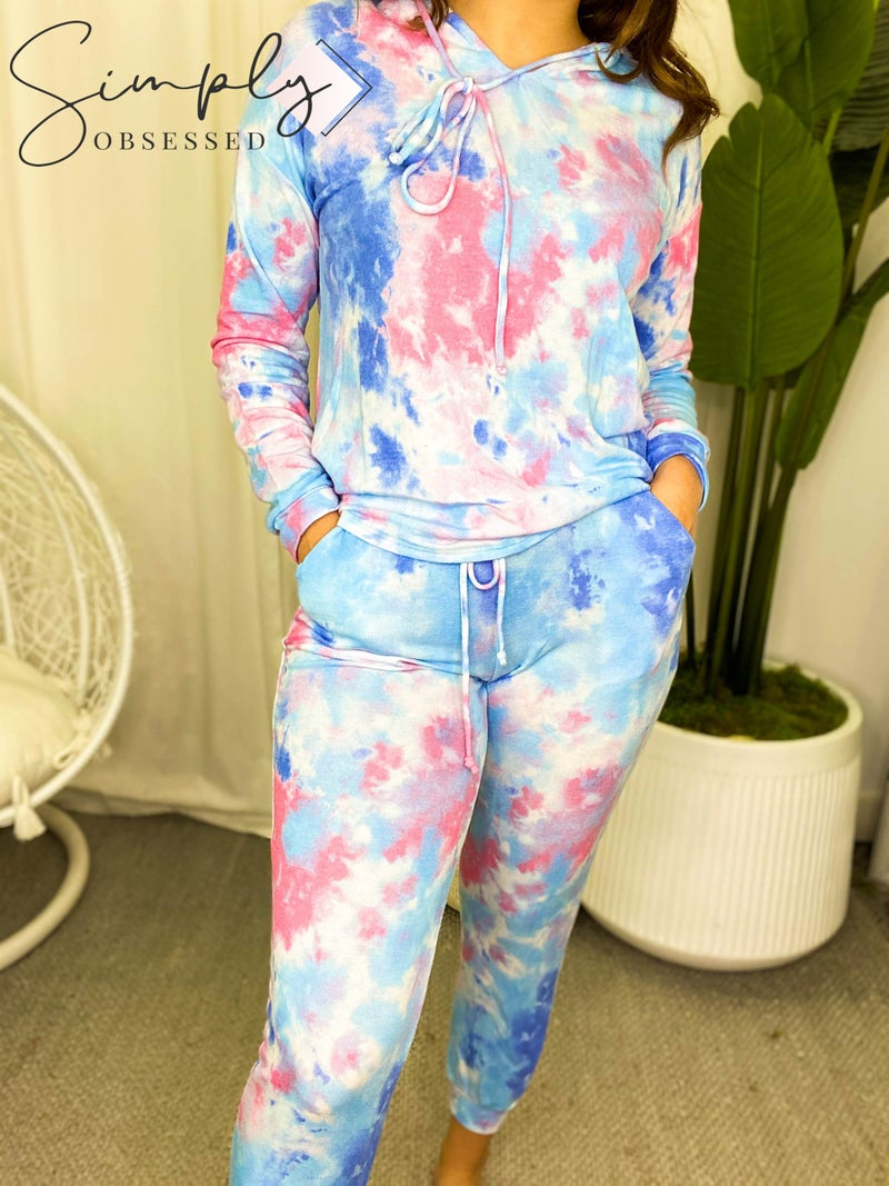 White Birch - Tie dye lounge wear drawstring pants