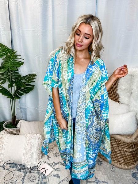 Kori - Ombre Bandana Print Kimono