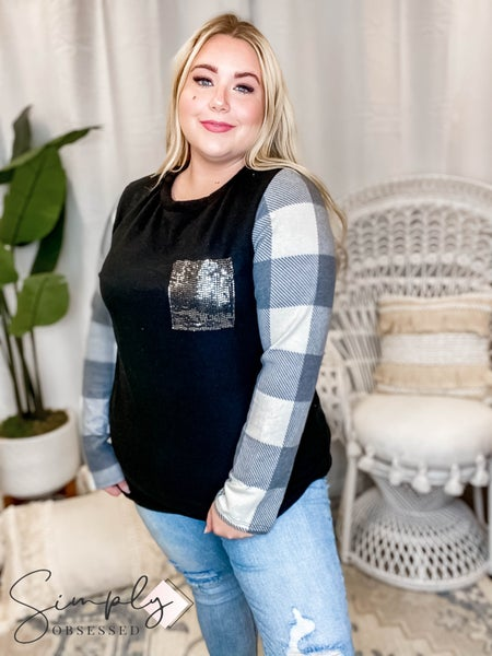 White Birch - Long sleeve solid knit top(All Sizes)