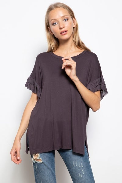 Mittoshop - Ruffled Sleeves Knit Top