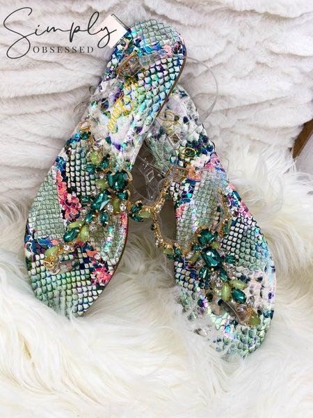 Bella Luna - jewel detail sandals