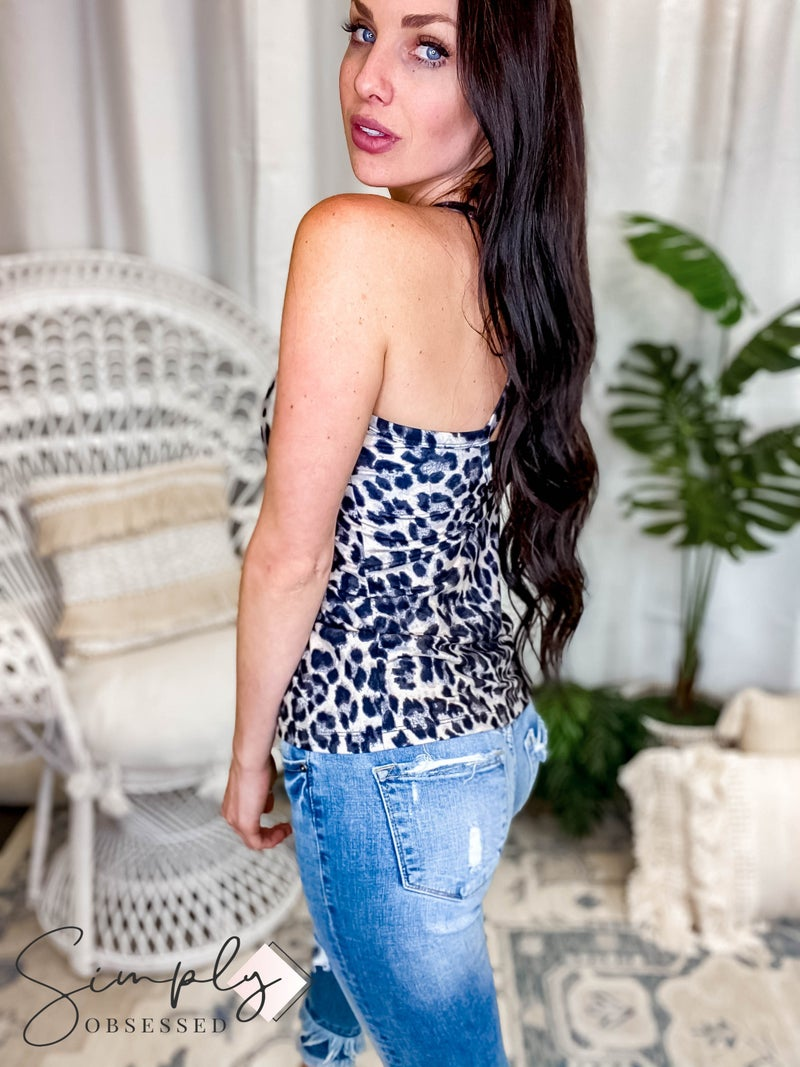 Rae Mode - Animal Printed Butter Soft Padded Tank Top (All Sizes)