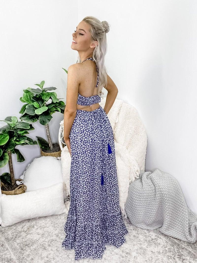 Sweet Lovely - Floral print mock maxi dress