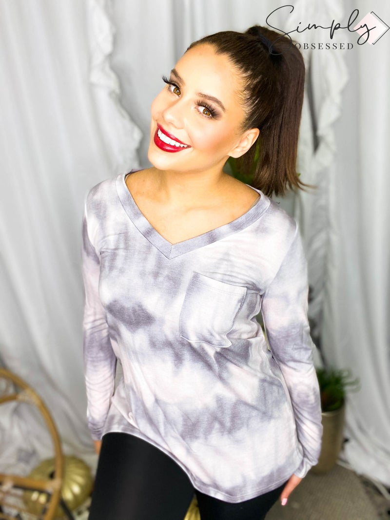 Sew In Love - V Neck Long Sleeve Top