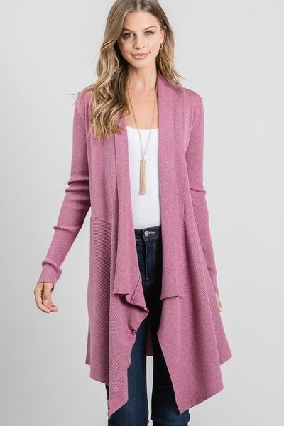 Allie Rose - Soft Relaxed Everyday Cascade Cardigan