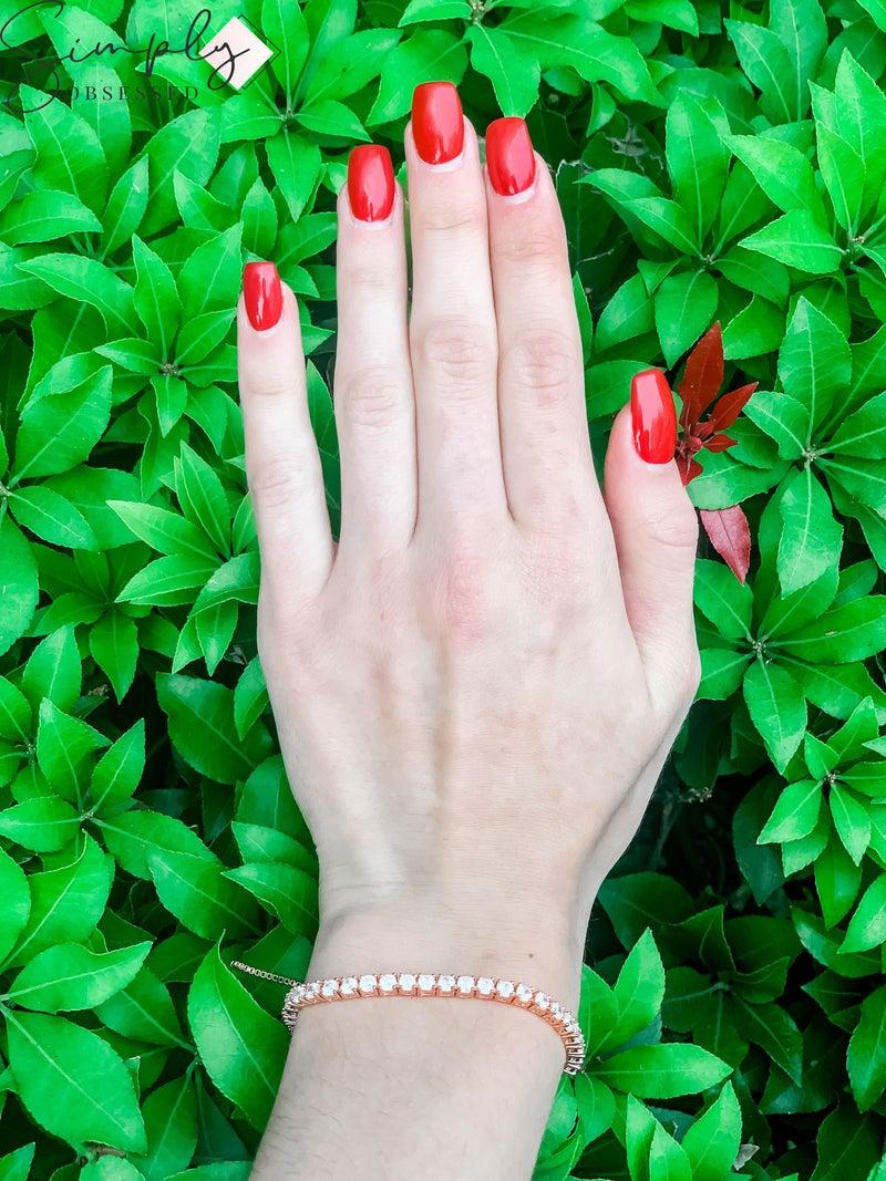 NYJ - Pave Rose Gold Adjustable Bracelet