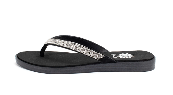 Yellowbox - Jewel embellished flip flops