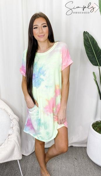 HONEYME-Tie Dye Dress