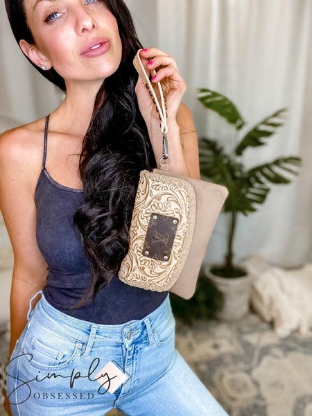 UpCycled - Hand Carved Leather Crossbody