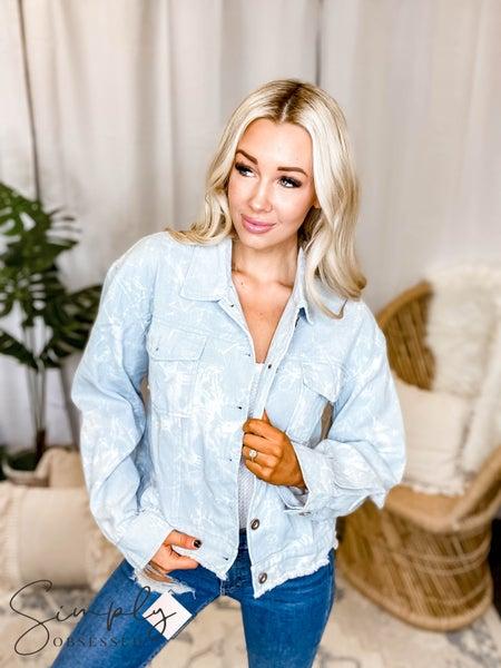 La Miel - Tie dye denim jacket