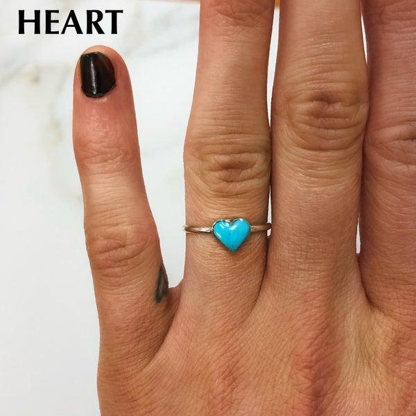 M&S Sterling Silver - Mini Turq Ring