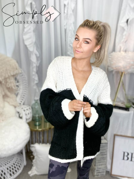 Kyemi - Open front chunky knit cardigan